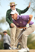 January 31st 2019, Scotsdale, Arizona, USA; Emiliano Grillo hits from the rough yet was able to manage par on the fifth hole during the first round of the Waste Management Phoenix Open