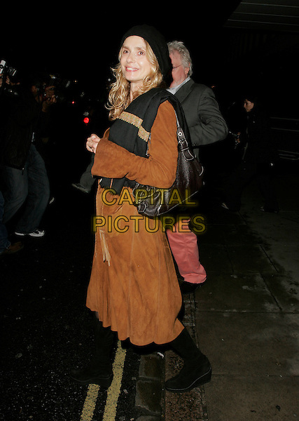 MARYAM D'ABO.Attends Suka, An evening at Sanderson in aid of CLIC Sargent, The Sanderson, Berners Street,.London, England, May 15th 2007..full length black hat beret brown coat Miriam miryam.CAP/AH.©Adam Houghton/Capital Pictures.