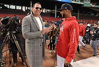 10/24/18 - Boston:  World Series on Fox - Game 2 - Los Angeles Dodgers vs Boston Red Sox - Pregame