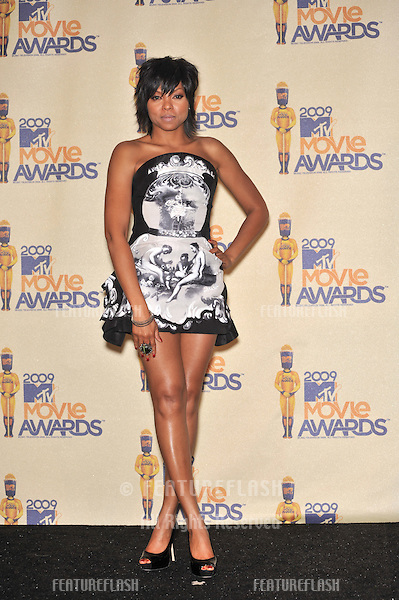 Taraji P. Henson at the 2009 MTV Movie Awards at Universal Studios Hollywood..May 31, 2009  Los Angeles, CA.Picture: Paul Smith / Featureflash