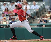 Altoona Curve outfielder Gregory Polanco (25) during game against the Trenton Thunder at ARM & HAMMER Park on July 24, 2013 in Trenton, NJ.  Altoona defeated Trenton 4-2.  Tomasso DeRosa/Four Seam Images
