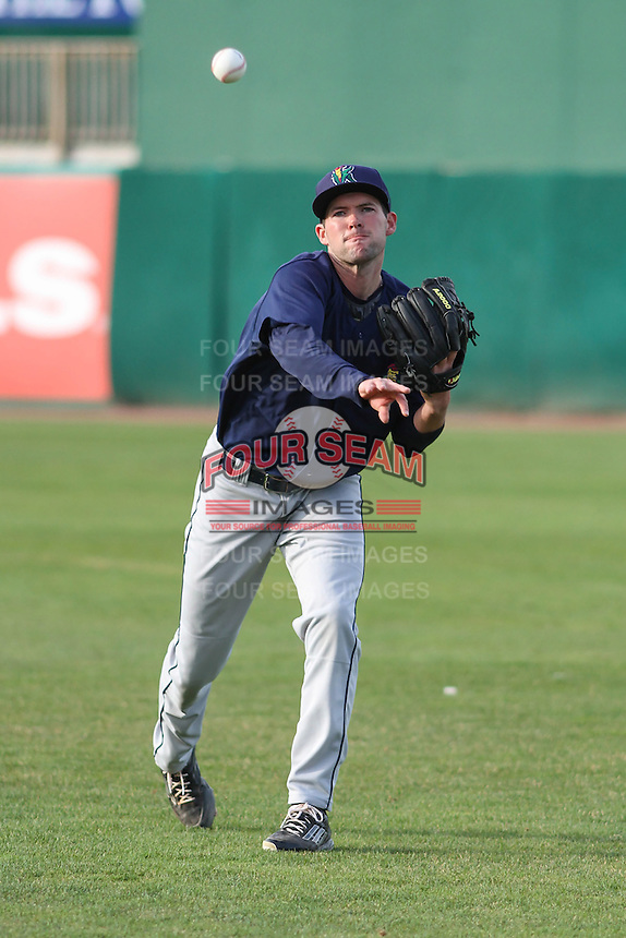 Cedar Rapids Kernels pitcher Jared Wilson (20) warms up prior to a game against the Wisconsin Timber Rattlers on May 4th, 2015 at Fox Cities Stadium in Appleton, Wisconsin.  Cedar Rapids defeated Wisconsin 9-3.  (Brad Krause/Four Seam Images)
