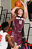 Josh Pismeny #10 of Deer Park pulls up for a jumper during a Suffolk County League IV varsity boys basketball game against host Half Hollow Hills West High School on Thursday, Dec. 21, 2017. Deer Park won by a score of 62-38.