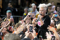 NEW YORK, NY - SEPTEMBER 18: Pink Performs on NBC's Today Show at Rockefeller Center in New York City.  September 18, 2012. © mpi01/MediaPunch Inc. /NortePhoto.com<br />