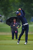 Celine Boutier (FRA) watches her tee shot on 12 during round 4 of the KPMG Women's PGA Championship, Hazeltine National, Chaska, Minnesota, USA. 6/23/2019.<br /> Picture: Golffile | Ken Murray<br /> <br /> <br /> All photo usage must carry mandatory copyright credit (© Golffile | Ken Murray)