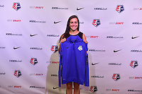 Los Angeles, CA - Thursday January 12, 2017: Christina Gibbons during the 2017 NWSL College Draft at JW Marriott Hotel.