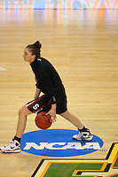 6 April 2008: Stanford Cardinal Hannah Donaghe during Stanford's 82-73 win against the Connecticut Huskies in the 2008 NCAA Division I Women's Basketball Final Four semifinal game at the St. Pete Times Forum Arena in Tampa Bay, FL.