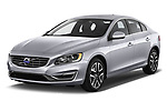 2017 Volvo S60 T5 4 Door Sedan Angular Front stock photos of front three quarter view