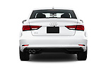 Straight rear view of 2017 Audi A3  Premium  4 Door Sedan stock images