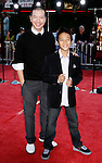 "Actor Reggie Lee and Brandon Soo Hoo arrive at the Los Angeles Premiere Of ""Tropic Thunder"" at the Mann's Village Theater on August 11, 2008 in Los Angeles, California."