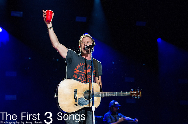 Dierks Bentley performs at LP Field during Day One of the 2014 CMA Music Festival in Nashville, Tennessee.
