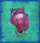 Illustration of sad heart