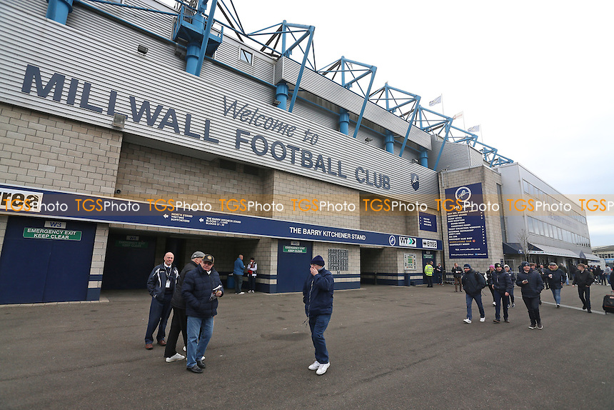 General view as fans arrive at the ground during Millwall vs Watford, Emirates FA Cup Football at The Den on 29th January 2017