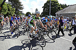 Before the start of the Irish National Men's Elite Road Race Championships held over an undulating course featuring 9 laps centered around the village of Multyfarnham, Co.Westmeath, Ireland. 29th June 2014.<br /> Picture: Eoin Clarke www.newsfile.ie