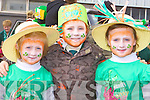 Katelyn Keane, Kalum Buckley and Shauna O'Keeffe Scartaglen who marched in the Castleisland St Patricks Day parade