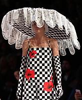 7 September 2017, Melbourne - Model parades design by RMIT student Emilia Colicchia during the Melbourne Fashion Week in Melbourne, Australia. (Photo Sydney Low / asteriskimages.com)
