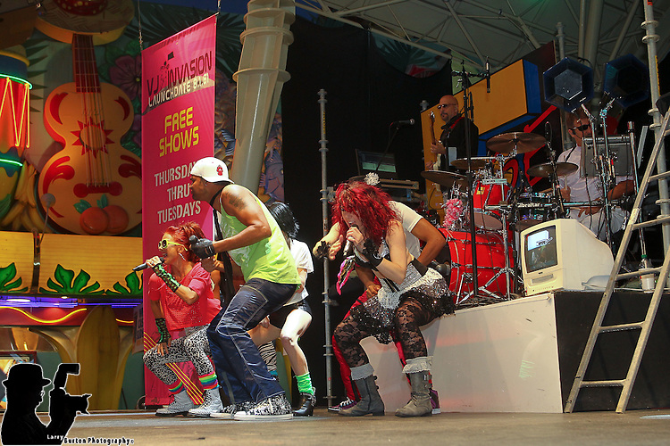 Fremont Street Experience kicks off Absolute 80's entertainment with MTV's Nina Blackwoods top 100, and the VJ Invasion production show on the 1st Street stage , and Venus rising on the 3rd Street stage