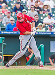 10 March 2015: Washington Nationals fielder Kevin Frandsen in Spring Training action against the Miami Marlins at Roger Dean Stadium in Jupiter, Florida. The Marlins edged out the Nationals 2-1 on a walk-off solo home run in the 9th inning of Grapefruit League play. Mandatory Credit: Ed Wolfstein Photo *** RAW (NEF) Image File Available ***