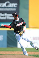 University of Louisville Cardinals infielder Sutton Whiting (1) during practice before a game against the Temple University Owls at Campbell's Field on May 10, 2014 in Camden, New Jersey. Temple defeated Louisville 4-2.  (Tomasso DeRosa/ Four Seam Images)