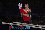 Mcc0055084 . Daily Telegraph<br /> <br /> England's Max Whitlock winning Gold in the Men's Individual Artistic Gymnastics on Day 7 of the 2014 Commonwealth Games in Glasgow today .<br /> <br /> 30 July 2014