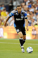 Ramiro Corrales (12) midfielder San Jose Erthquakes in action...Sporting KC defeated San Jose Earthquakes 1-0 at LIVESTRONG Sporting Park, Kansas City ,Kansas,..