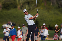 Renato Paratore (ITA) on the 16th fairway during Round 3 of the Abu Dhabi HSBC Championship at the Abu Dhabi Golf Club, Abu Dhabi, United Arab Emirates. 18/01/2020<br /> Picture: Golffile | Thos Caffrey<br /> <br /> <br /> All photo usage must carry mandatory copyright credit (© Golffile | Thos Caffrey)