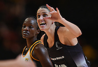 05.02.2017 Silver Ferns Anna Harrison in action during the Silver Ferns v Proteas netball test match played at Wembley Arena  in London, England. Mandatory Photo Credit ©Joe Toth/Michael Bradley Photography