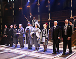 """Nicholas McDonough, Lawrence Redmond, Crystal Mosser, Bobby Smith, Nkrumah Gatling, Natascia Diaz, Nicki Elledge, Christopher Bloch, Ben Gunderson during the Curtain Call for Signature presents """"Grand Hotel - The Musical"""" at The Signature Theatre on April 27, 2019 in Arlington, Virginia - The Musical."""