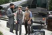 The Avett Brothers, from left, Seth and Scott Avett and Bob Crawford prior to a show in Pittsburgh, PA, Saturday, June 21, 2008.