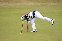 Jon Rahm (ESP) on the 5th green during Round 3 of the Dubai Duty Free Irish Open at Ballyliffin Golf Club, Donegal on Saturday 7th July 2018.<br /> Picture:  Thos Caffrey / Golffile