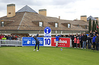 Thorbjorn Olesen (DEN) on the 10th tee during Round 2 of the Open de Espana 2018 at Centro Nacional de Golf on Friday 13th April 2018.<br /> Picture:  Thos Caffrey / www.golffile.ie<br /> <br /> All photo usage must carry mandatory copyright credit (&copy; Golffile | Thos Caffrey)