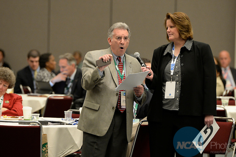 17 JAN 2014: The NCAA Division I Governance Dialogue takes place during the 2014 NCAA Convention in San Diego, CA.  Jamie Schwaberow/NCAA Photos