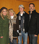 """General Hospital's Kristen Alderson """"Starr Manning"""" poses with her brother One Life To Live Eddie Alderson, mom Kathy and dad Rich at the Philadelphia 93rd Annual Thanksgiving Day Parade on November 22, 2012 in Philadelphia, Pennsylvania. (Photo by Sue Coflin/Max Photos)"""
