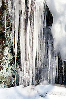 ICICLES<br /> Frozen Waterfall<br /> South Mountain Preservation, Millburn NJ.