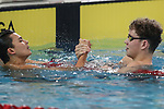 Nathan Hudan (L), Tarquin Magner (R), AON Swimming New Zealand National Age Group Swimming Championships, National Aquatic Centre, Auckland, New Zealand, Saturday 21 April 2018. Photo: David Rowland/www.bwmedia.co.nz