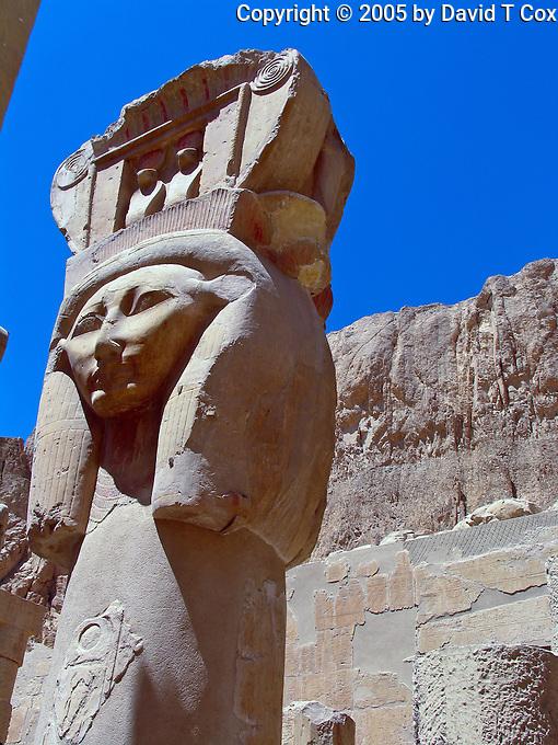 Hathor, Deir al Bahri Temple, Luxor, Egypt