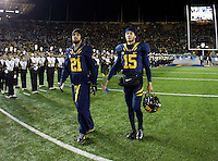 California quarterback Zach Maynard and California wide receiver Keenan Allen walk on the field during senior ceremony before the game against Oregon at Memorial Stadium in Berkeley, California on November 10th, 2012.   Oregon Ducks defeated California Bears, 59-17.