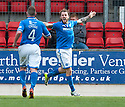 St Johnstone's Steven May celebrates after he scores their second goal.