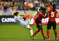 Houston, TX. - February 19, 2016: The U.S. Women's National team take a 3-0 lead over Trinidad & Tobago to begin second half action in CONCACAF Women's Olympic Qualifying at BBVA Compass Stadium.