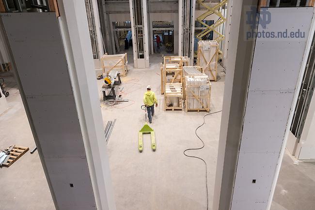March 9, 2017; Nanovic Forum under construction, Nanovic Hall (Photo by Matt Cashore/University of Notre Dame)