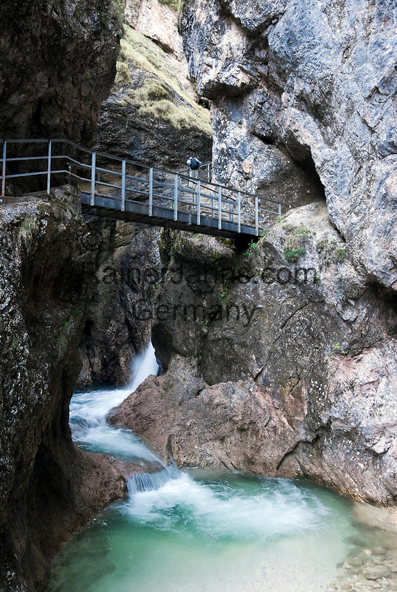 Deutschland, Bayern, Oberbayern, Berchtesgadener Land, Berchtesgaden: Almbachklamm | Germany, Bavaria, Upper Bavaria, Berchtesgadener Land, Berchtesgaden: gorge Almbachklamm