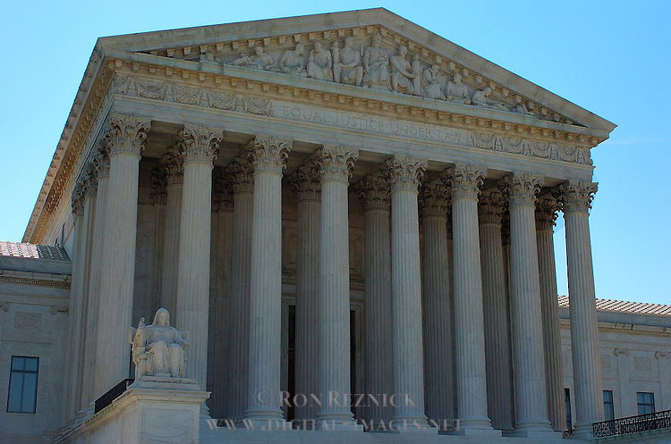 Supreme Court Building, Western Facade, Contemplation of Justice, Washington DC
