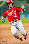 26 February 2019: St. Louis Cardinals infielder Evan Mendoza slides safely into third with a triple to lead off the 8th inning of a Spring Training game against the Washington Nationals at the Ballpark of the Palm Beaches in West Palm Beach, Florida. The Cardinals defeated the Nationals 6-1 in Grapefruit League play. Mandatory Credit: Ed Wolfstein Photo *** RAW (NEF) Image File Available ***
