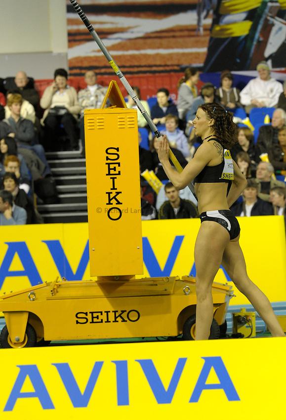 Photo: Ady Kerry / RichardLane Photography.Henrietta Paxton in the pole vault Aviva European Trials & UK Championships Athletics, 14/02/2009