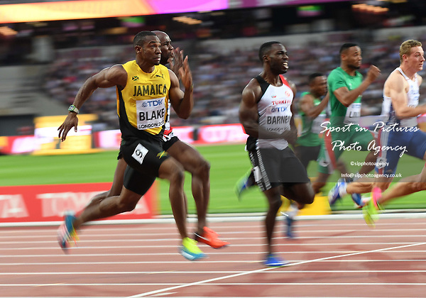 Yohan Blake (JAM) in the mens 100m heats. IAAF World athletics championships. London Olympic stadium. Queen Elizabeth Olympic park. Stratford. London. UK. 04/08/2017. ~ MANDATORY CREDIT Garry Bowden/SIPPA - NO UNAUTHORISED USE - +44 7837 394578