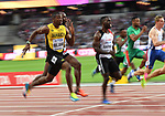 Yohan Blake (JAM) in the mens 100m heats. IAAF World athletics championships. London Olympic stadium. Queen Elizabeth Olympic park. Stratford. London. UK. 04/08/2017. ~ MANDATORY CREDIT Garry Bowden/SIPPA - NO UNAUTHORISED USE - +44 7837 394578