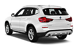 Car pictures of rear three quarter view of a 2019 BMW X3 Base 5 Door SUV angular rear