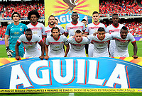 CALI - COLOMBIA  - 01 -  10  -  2017: Los jugadores de Cortulua posan para una foto, durante partido entre America de Cali y Cortulua de la fecha 14 por la Liga Aguila II 2017 jugado en el estadio Pascual Guerrero de la ciudad de Cali. / The players of Cortulua pose for a photo, during a match between America de Cali and Cortulua of the date 14th for the Liga Aguila II 2017 at the Pascual Guerrero stadium in Cali city. Photo: VizzorImage / Nelson Rios / Cont.