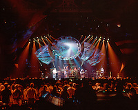 Grateful Dead in Concert 29 September 1994 at The Boston Garden. Image No. 94GDC52-10. Stage, Set and Lighing Design View. Photography taken from the lighting booth for Candace Brightman LD.