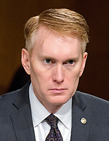 United States Senator James Lankford (Republican of Oklahoma) listens to the testimony during the US Senate Select Committee on Intelligence as it conducts an open hearing titled &quot;Disinformation: A Primer in Russian Active Measures and Influence Campaigns&quot; on Capitol Hill in Washington, DC on Thursday, March 30, 2017.<br /> Credit: Ron Sachs / CNP /MediaPunch